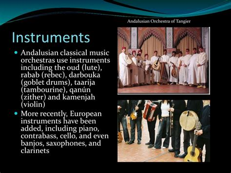 andalusian classical music rabab ppt instrument rebec powerpoint presentation oud darbouka drums goblet