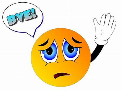 Bye Smiley Farewell Again Wave Clipart Farvel