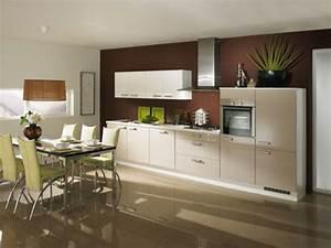 Couleur Cuisine Moderne : cuisine beige brillant mobler home ~ Melissatoandfro.com Idées de Décoration