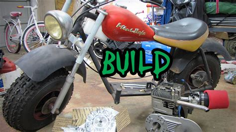 Slicks Garage Lawn Mower Engine by Mini Bike Build Baja Heat Restoration Mods Intro