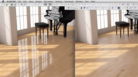 archicad  features creating  high  wood surface