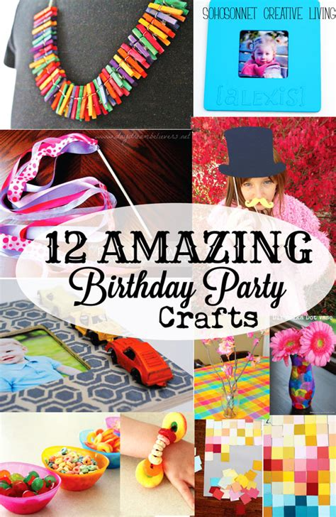 birthday party craft activities  kids sohosonnet