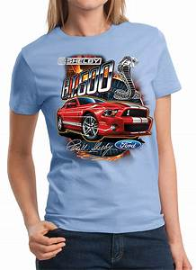 Ford Mustang Ladies Shirt Red Shelby GT 500 Tee T-Shirt - Ladies Ford Mustang Shirts