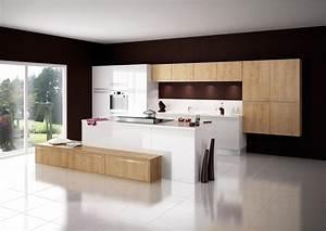 cuisine modele cristal en stratifie laque brillant euro With les plus belles cuisines contemporaines