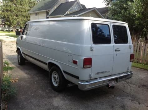 Sell Used 1993 Chevy Cargo Van Low Reserve In Hinckley