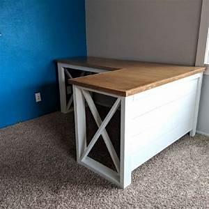 l shaped x desk in 2020 diy computer desk