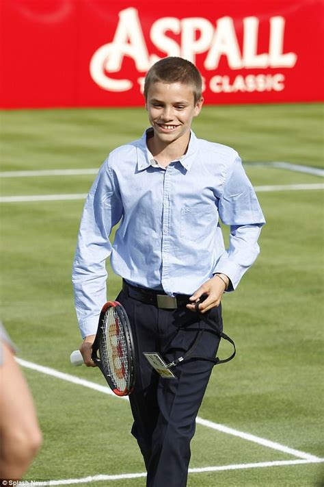 romeo beckham plays aspall tennis classic match in daily mail