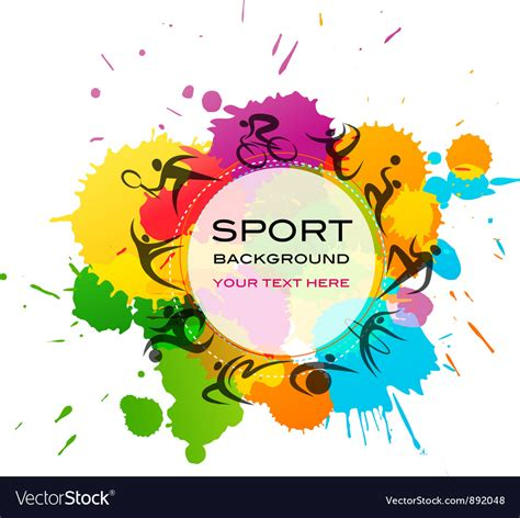 Sports Background Designs by Sport Background Colorful Royalty Free Vector Image