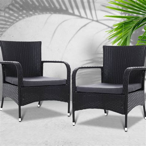 outdoor dining chairs x2 wicker chair patio garden