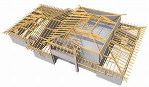 plan charpente bois 1 pan ji02 montrealeast With plan maison en pente 15 abris 2 pans asymetrique charpente bois wood structure