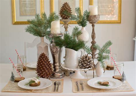Domestic Fashionista Natural Christmas Tablescape