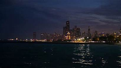 Chicago Background Night Scenery Romantic Cinemagraph Lights