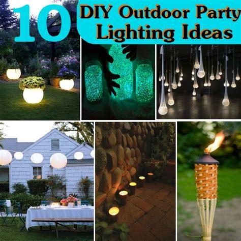 diy outdoor lighting ideas 10 diy outdoor party lighting ideas sreen at the foord