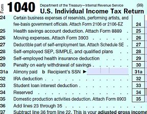 Tax Form 1040 Adjusted Gross Income Example