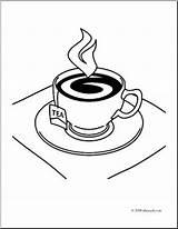 Tea Coloring Designlooter Clip sketch template