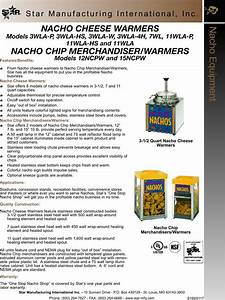 Star Manufacturing Nacho 11wla Hs Users Manual 3wla Equipment