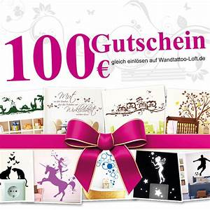 Deutsche Post Gutscheincode : 100 euro geschenkgutschein wandtattoos ~ Orissabook.com Haus und Dekorationen