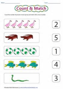 Counting and Matching Numbers Worksheets