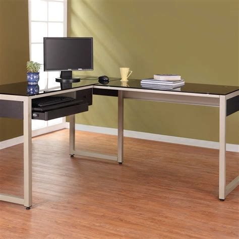 extra long computer desk furniture long tempered glass top computer desk with