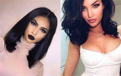 mesmerizing jet black hairstyles 2017 hairdrome