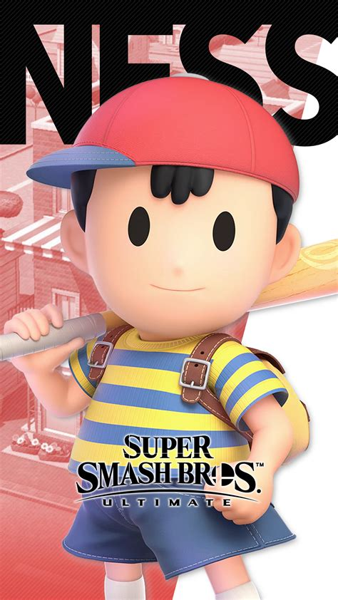 super smash bros ultimate ness wallpapers cat  monocle