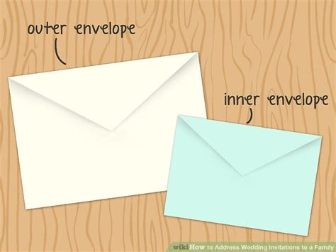how to address an envelope to a family 5 ways to address wedding invitations to a family wikihow