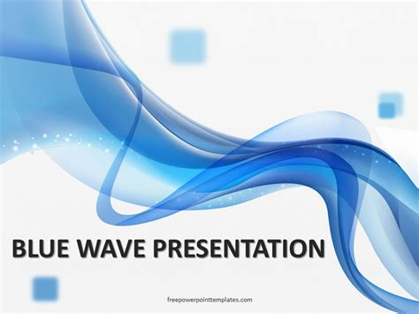 abstract blue wavy background ppt template free blue wave powerpoint template