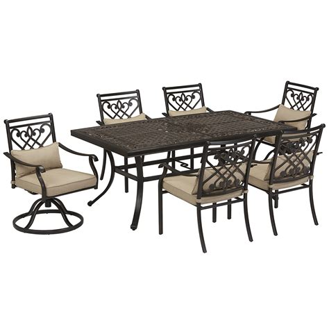 grand resort villa park 7pc cushion dining set outdoor