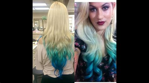How To Diy Colored Ombre Dip Dye Hair Tutorial Youtube