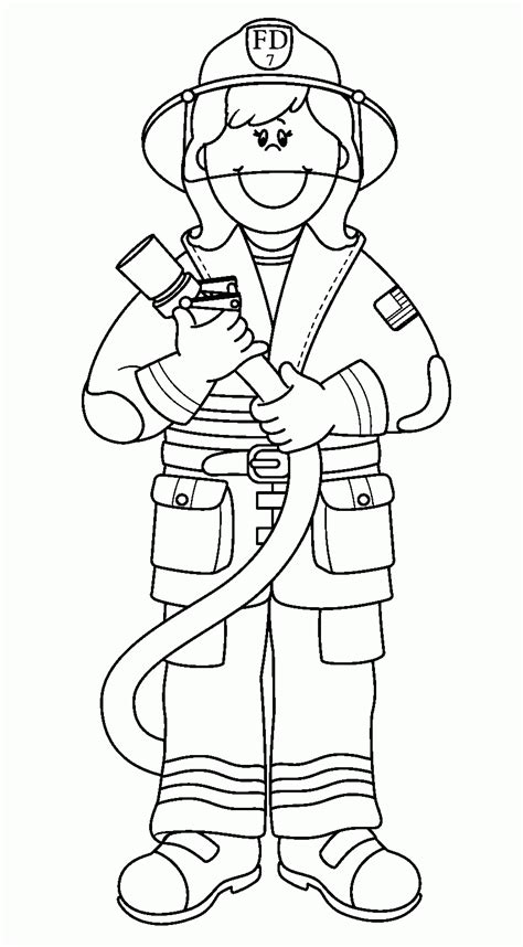 fireman coloring pages  kids printable coloring home