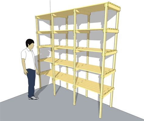 wood storage shelves plans  woodworking
