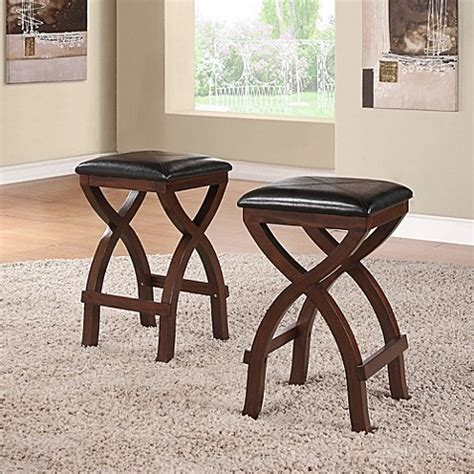 Verona Home Cross Base 24inch Counter Height Stools In