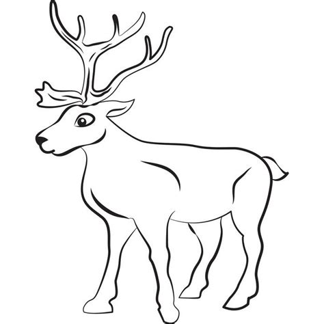 Reindeer Template Printable by Reindeer Template Animal Templates Free Premium