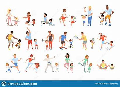 Activity Physical Different Exercises Children Sport Doing