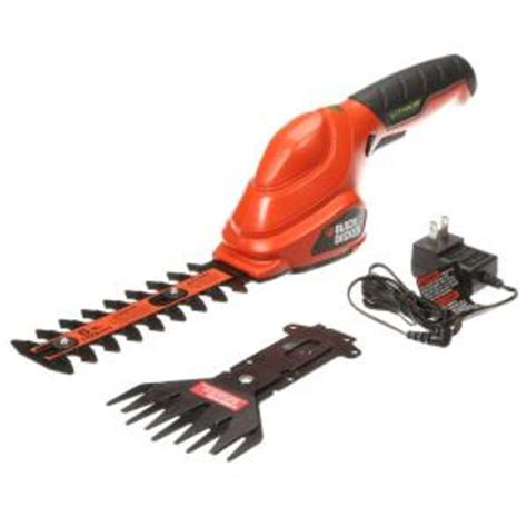 small garden shears black decker 3 6 volt lithium ion cordless 2 in 1 compact garden shears combo with 1 0ah