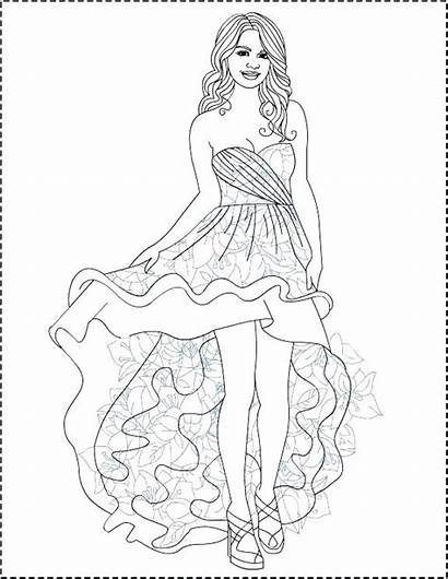 Selena Gomez Drawing Coloring Step Getdrawings