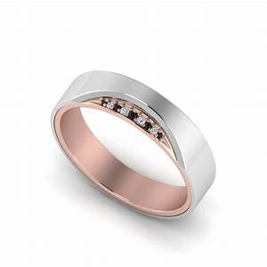 3 stone diamond anniversary band for men in 14k white gold With modern mens wedding ring
