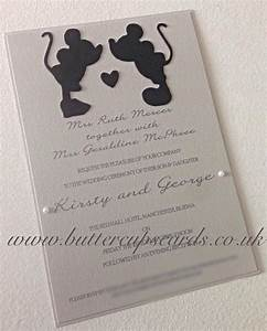 50x disney inspired wedding invitations by buttercupscards With disney wedding invitations online