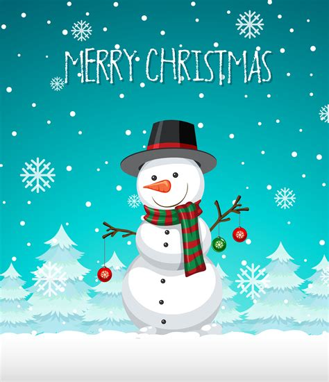 snowman christmas template   vectors