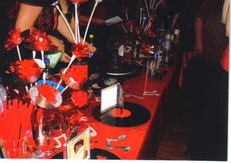 music themed table decorations black and red table decorations for one liners