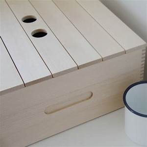 iris hantverk large birch bread box remodelista With best brand of paint for kitchen cabinets with paper bag candle holders