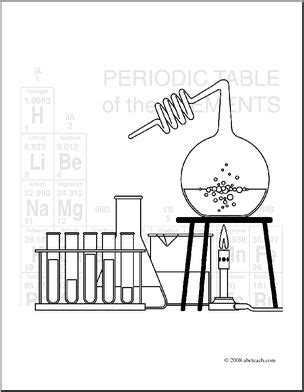 clip art science icon chemistry coloring page