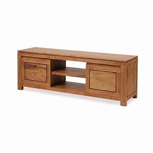 Meuble Bois Exotique : meuble tv bois exotique acacia 2 portes 2 niches guntur 3512 ~ Premium-room.com Idées de Décoration