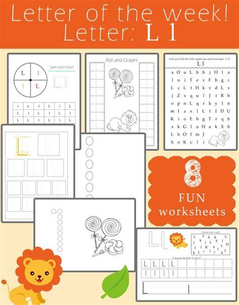 number names worksheets letter l phonics worksheets