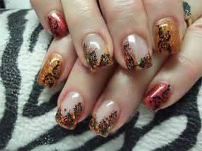 Fall Autumn Nail Art Design