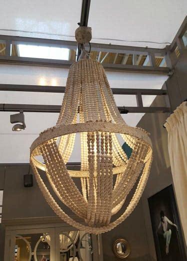 wooden large boho ceiling light furniture la maison chic luxury interiors