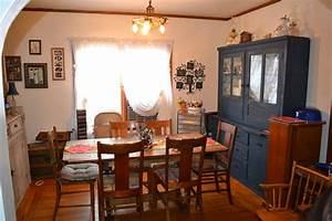 Blue, Shabby, Chic, Kitchen, Cupboard, In, My, Dining, Room, Of, My, Cottage