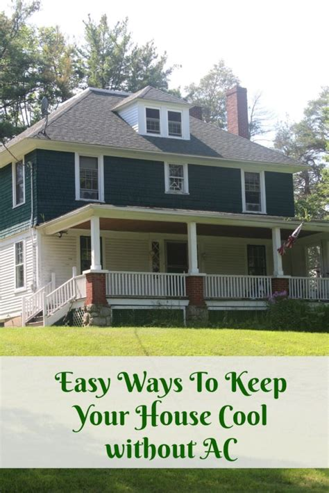 easy ways    house cool  air conditioning