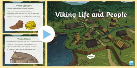 viking life  people powerpoint viking history  kids