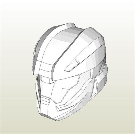 foam helmet template papercraft pdo file template for halo 4 recruit helmet foam